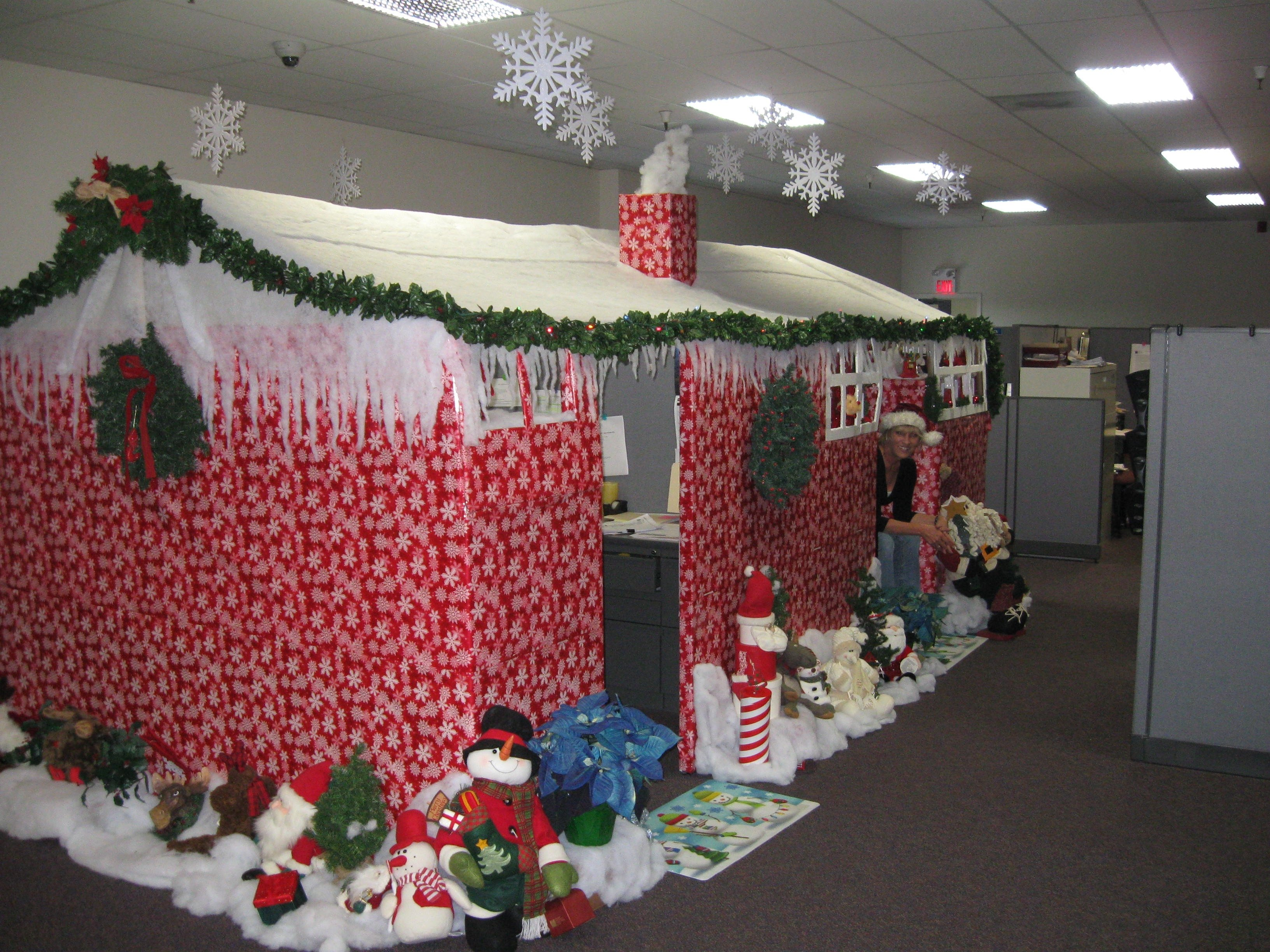 copy decorate office cubicles office holiday decor | fresh christmas