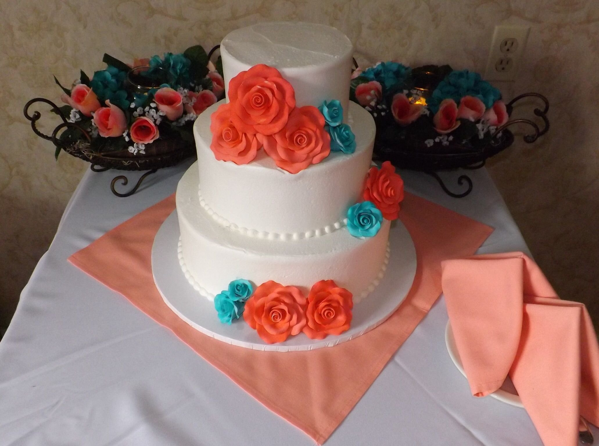 10 Trendy Coral And Teal Wedding Ideas coral and teal wedding cake coral and teal weddings pinterest 2020