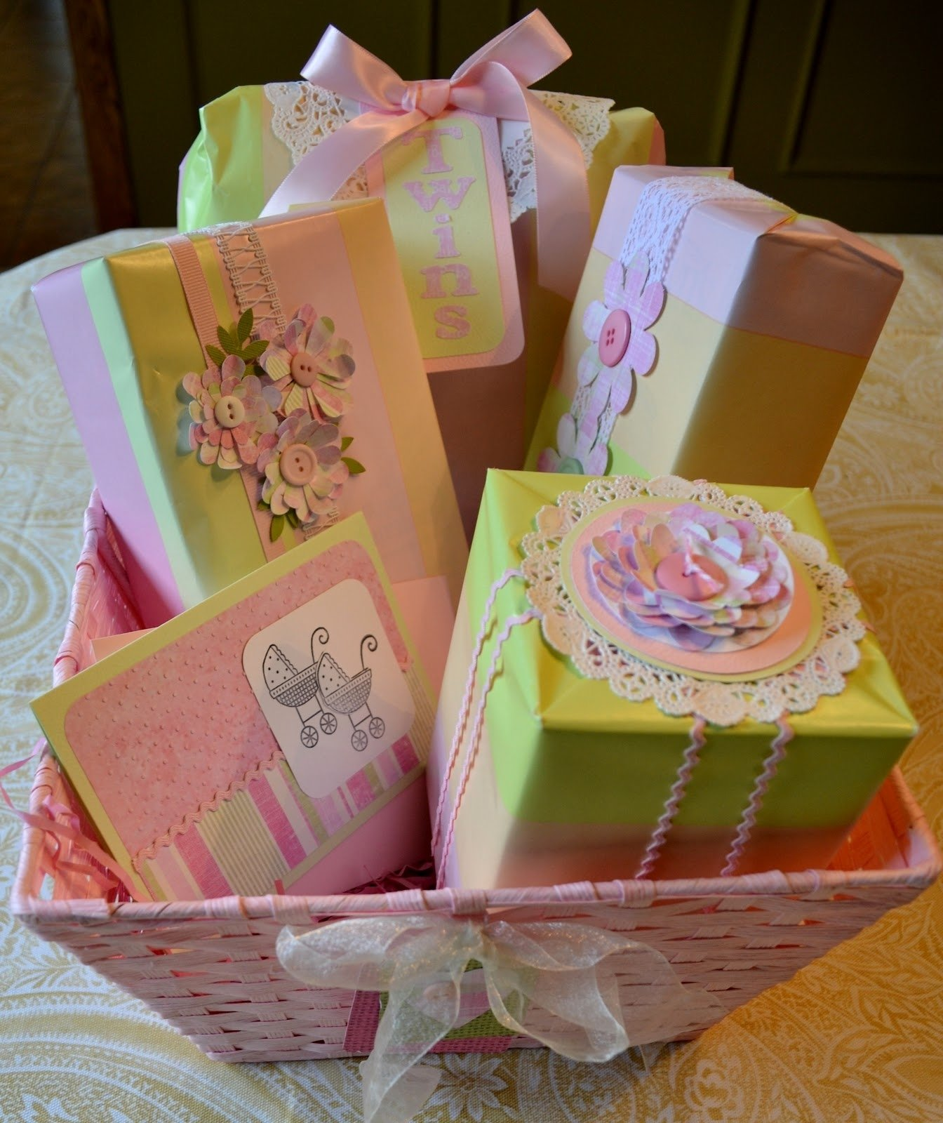 10 Gorgeous Gift Wrapping Ideas For Baby Shower corner of plaid and paisley baby shower gift wrap 2020