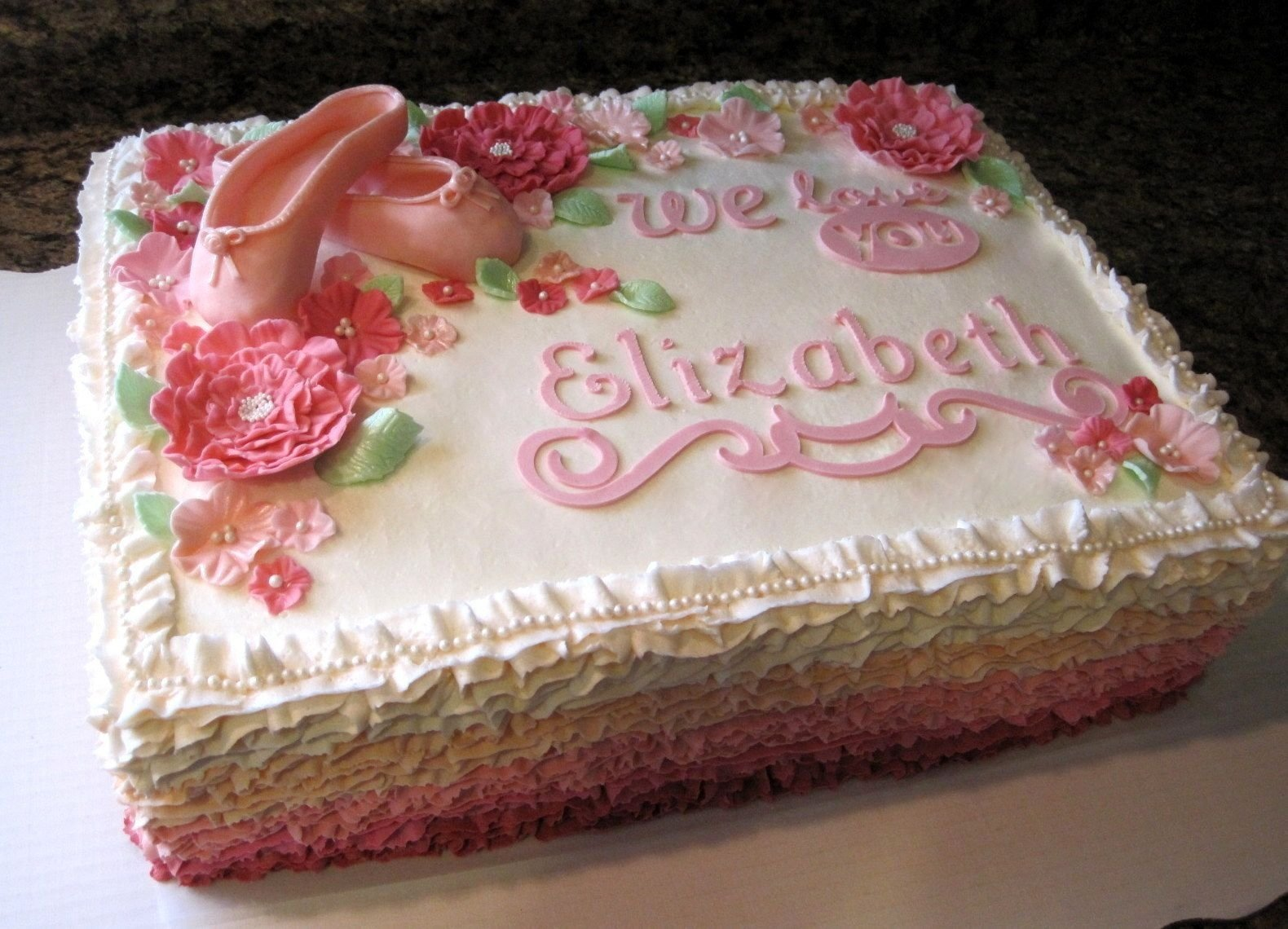 10 Nice Baby Shower Sheet Cake Ideas costco baby shower cakes ruffle ballet sheet cake baby shower 2021