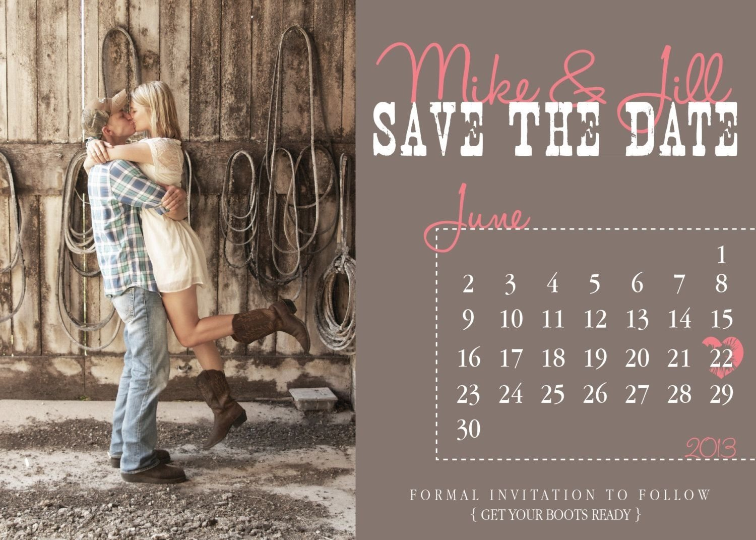 10 Elegant Save The Date Ideas Pinterest country save the dates country calendar save the date wedding 2020