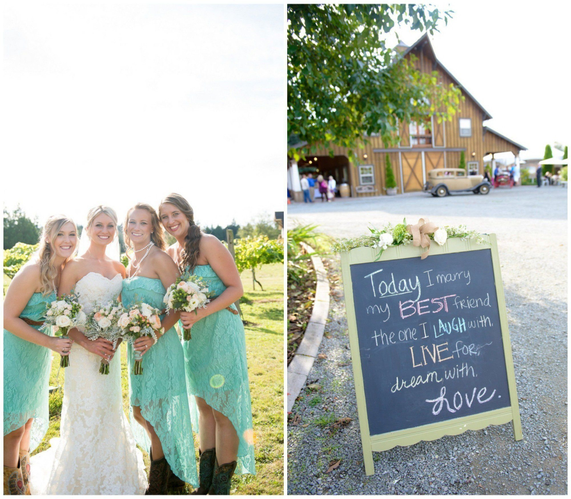 country wedding on a budget - rustic wedding chic