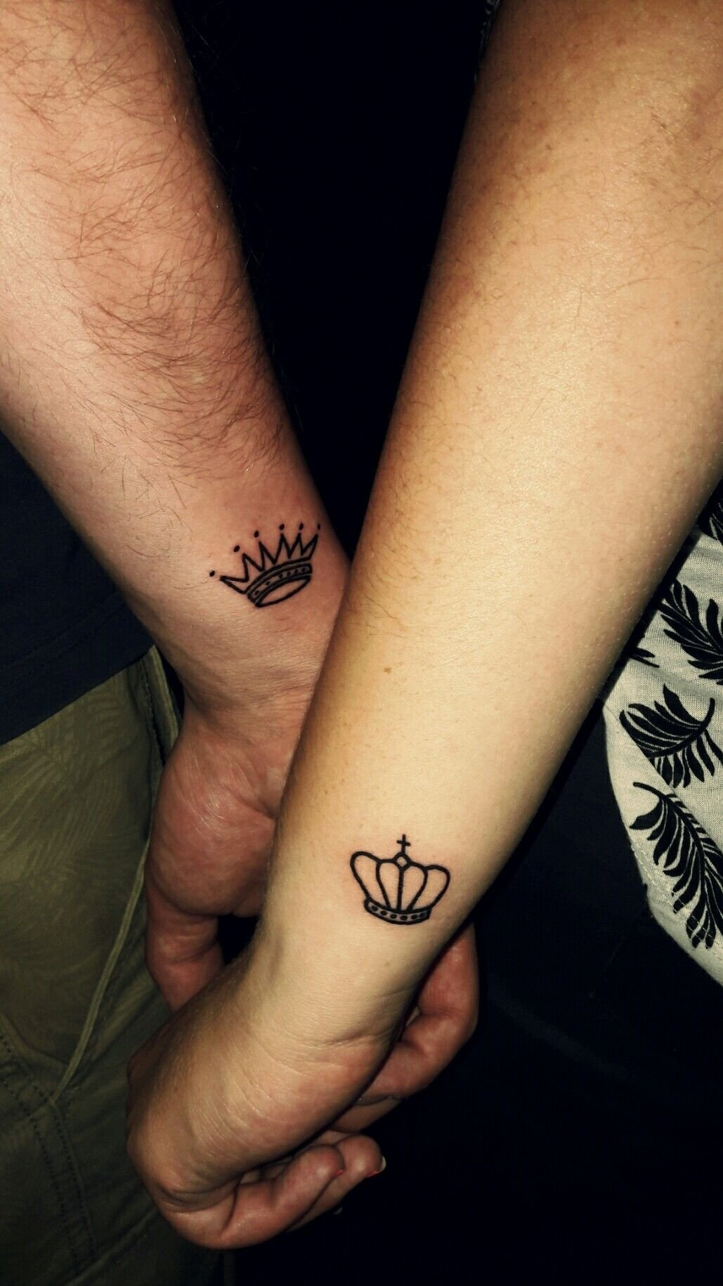 10 Most Recommended Tattoo Ideas For Couples In Love couple tattoo king and queen tattoo crown tattoo love tattoos