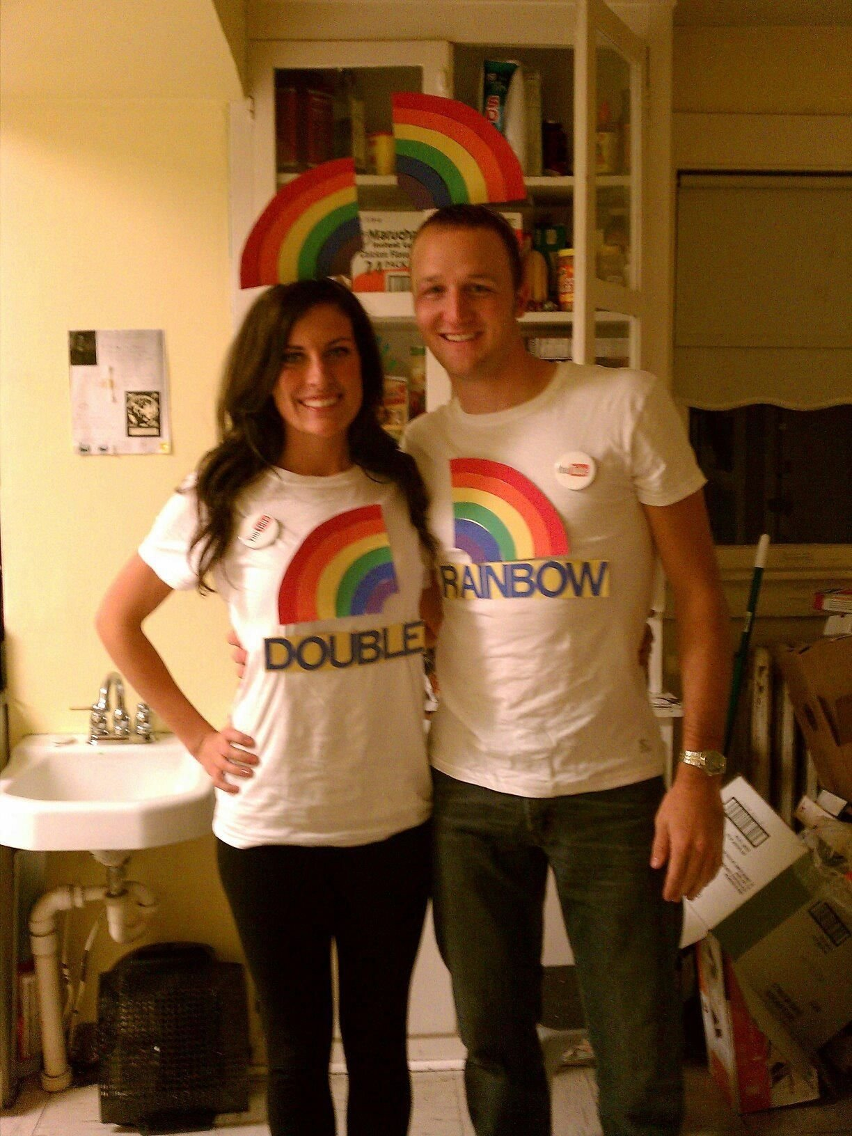 couples halloween costume -double rainbow (see youtube video). omg i