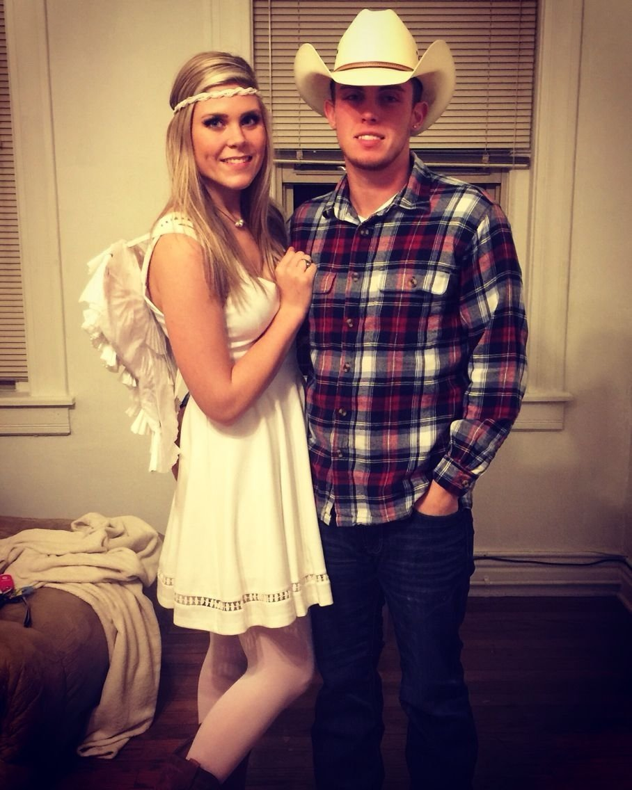 10 Attractive Clever Halloween Costume Ideas Couples cowboys and angels halloween cute country couple costume for adults 5