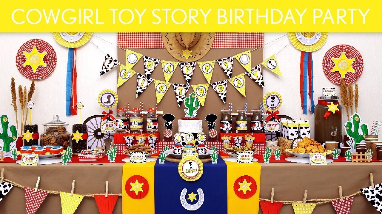 cowgirl toy story birthday party ideas // cowgirl toy story - b130