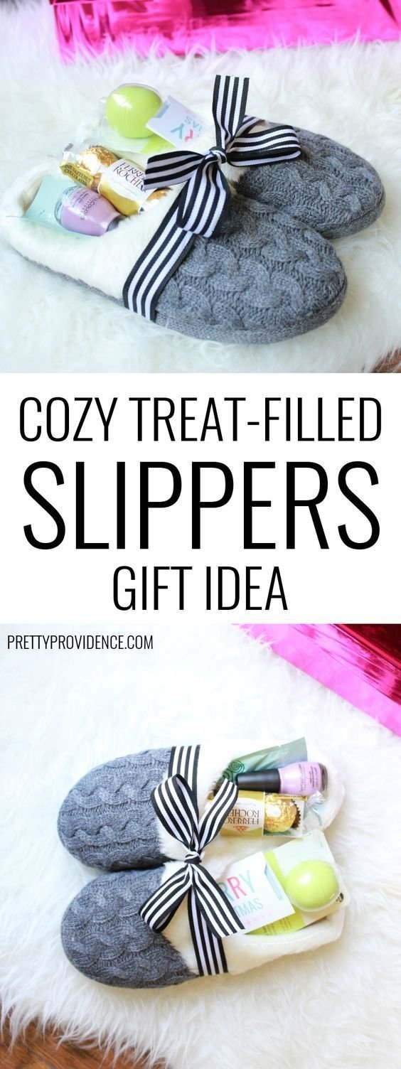 10 Unique Great Secret Santa Gift Ideas cozy treat filled slipperspretty providence and other great gift 1