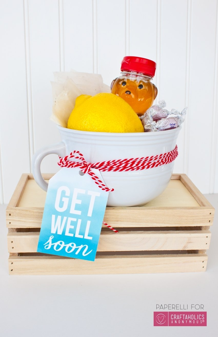 craftaholics anonymous® | get well soon printable + gift idea