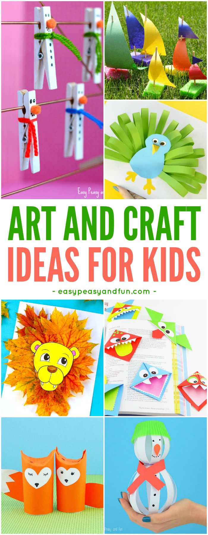 10 Great Easy Arts And Craft Ideas crafts for kids tons of art and craft ideas for kids to make 2 2021