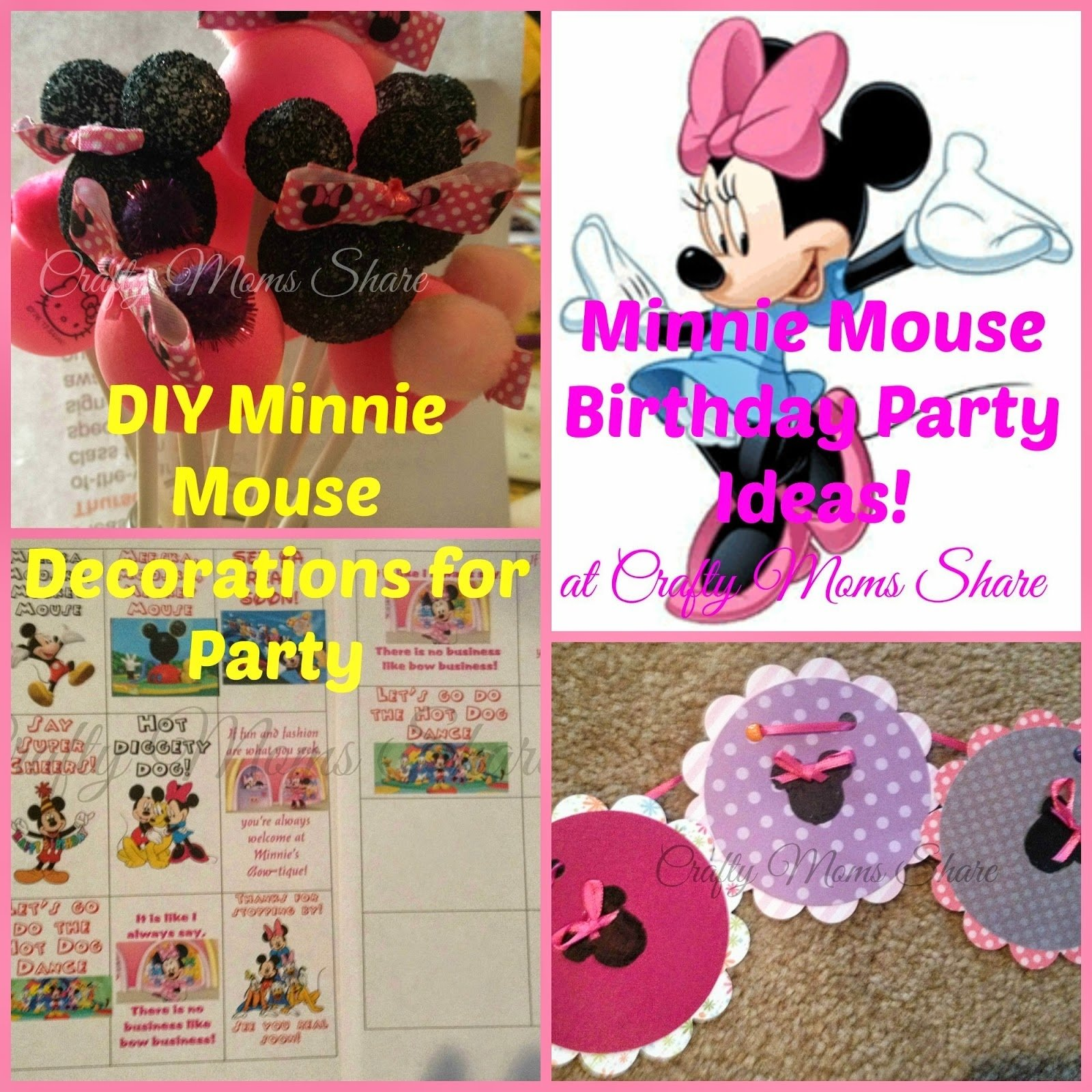 10 Ideal Minnie Mouse Party Ideas Diy crafty moms share minnie mouse birthday party diy decorations