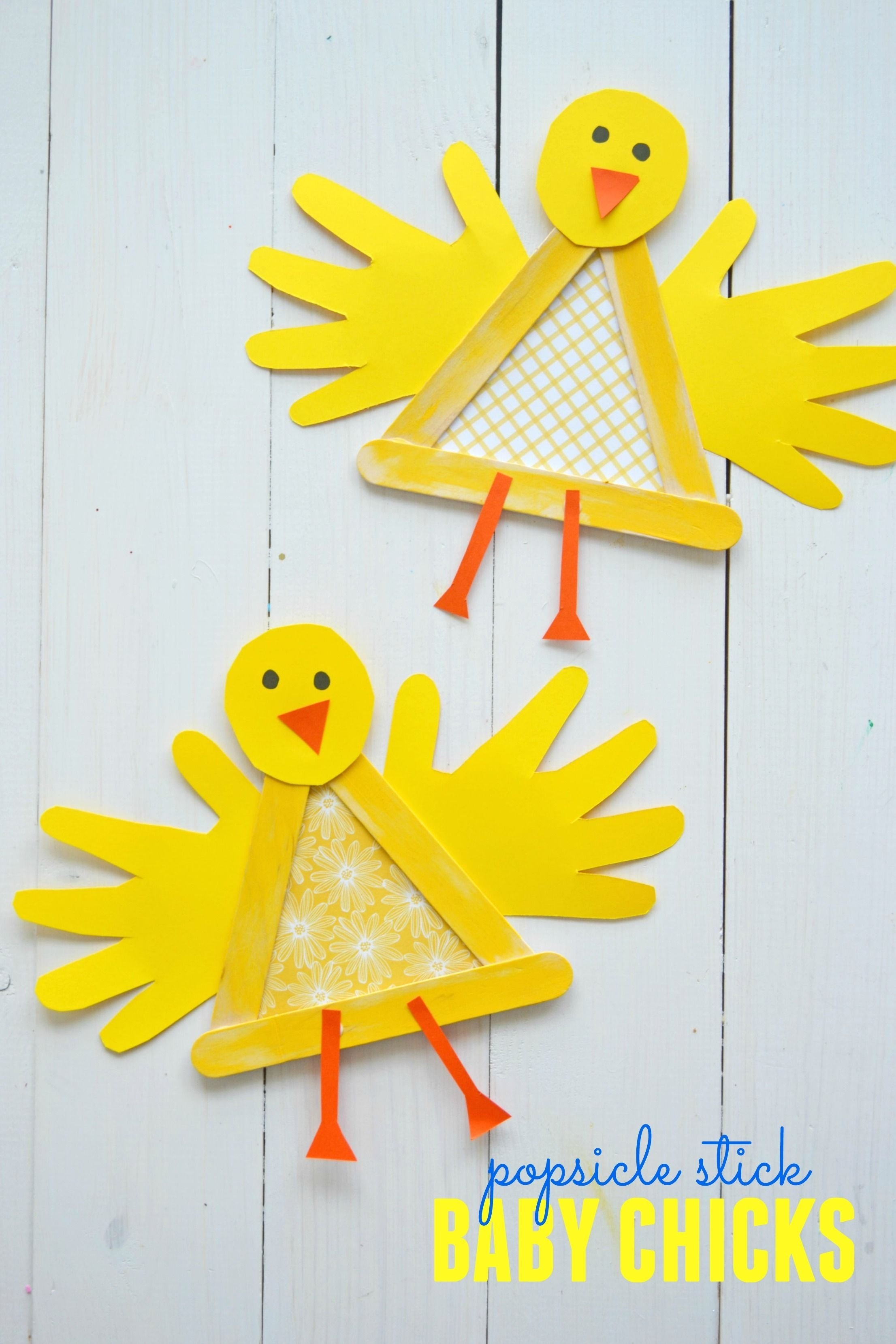10 Fashionable Spring Arts And Crafts Ideas crafty popsicle stick baby chick for spring continue reading 2020