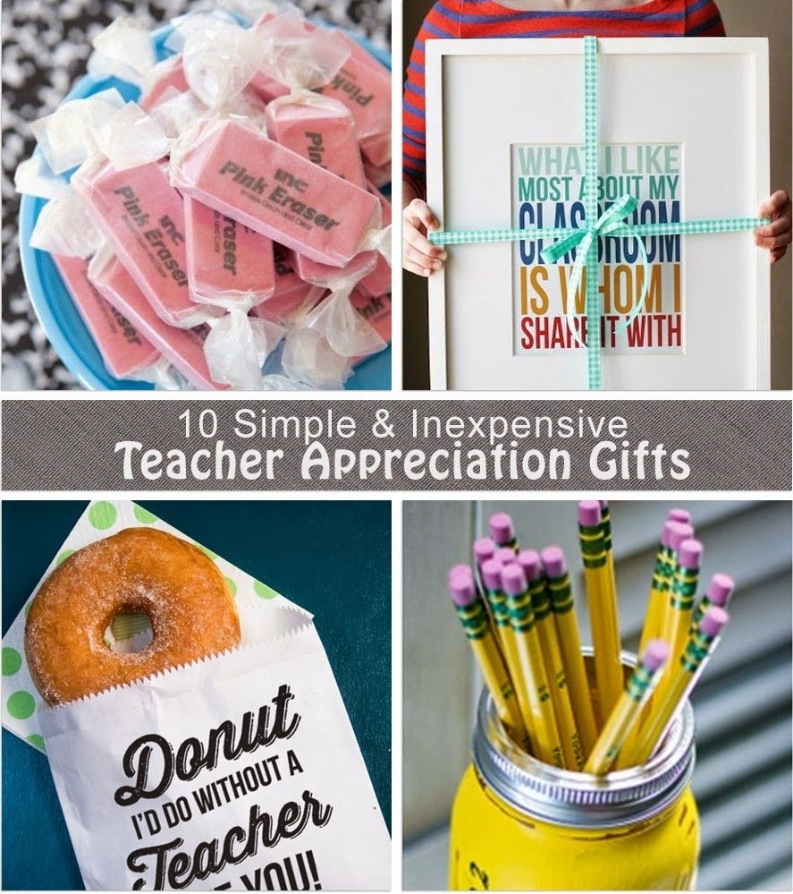 crafty teacher lady: 10 inexpensive teacher appreciation gift ideas