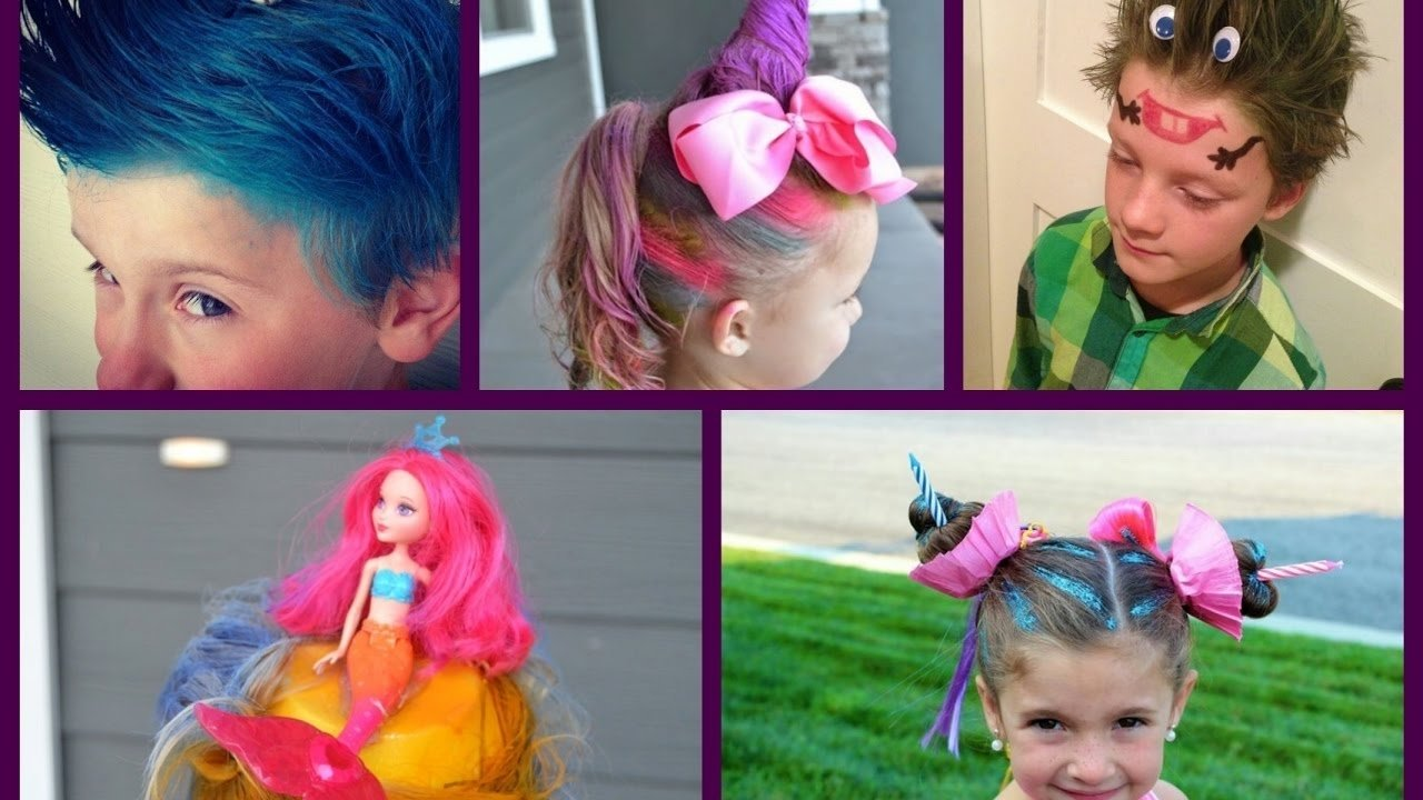 10 Fashionable Crazy Hair Day Ideas For Girls crazy hair day at school 30 best ideas for crazy hair day for 2 2021
