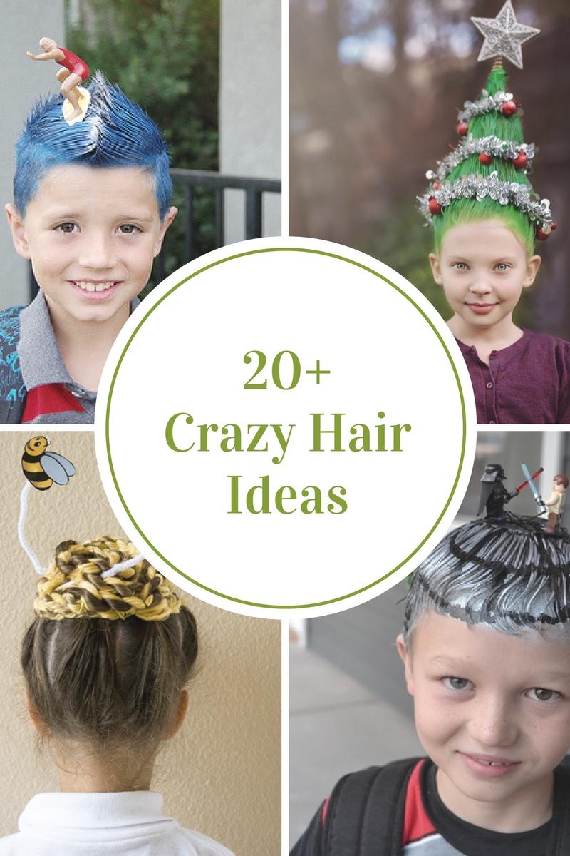 10 Fantastic Ideas Crazy Hair Day School crazy hair day ideas crazy hair crazy hairstyles and halloween 2021
