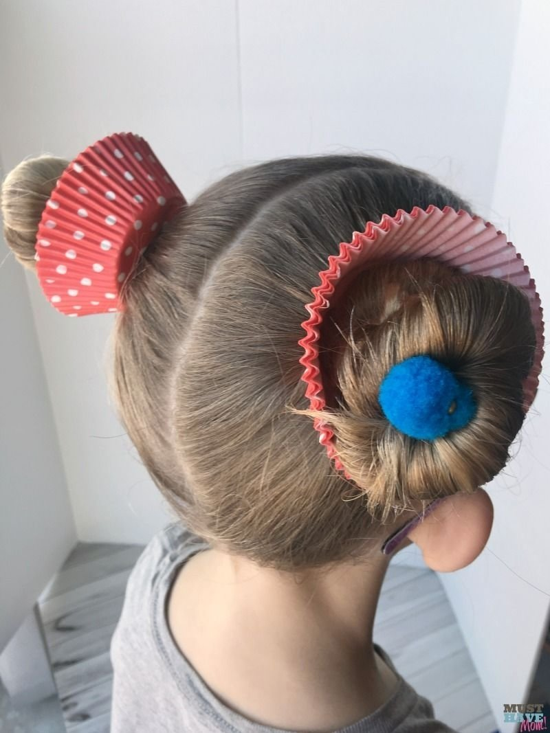 10 Fashionable Crazy Hair Day Ideas For Girls crazy hair day ideas girls cupcake hairdo crazy hair girl 2021