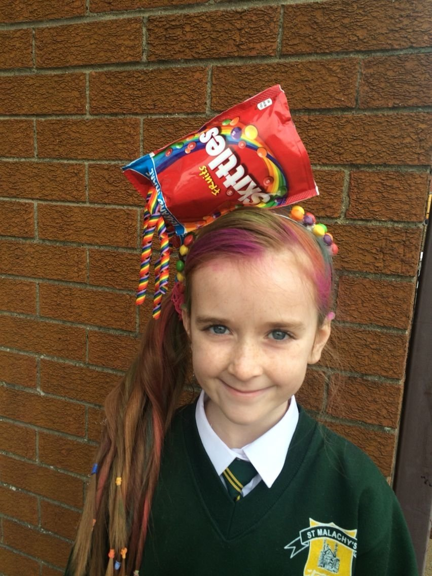 10 Most Recommended Crazy Hair Ideas For School crazy hair style for school fun day rainbow hair crazy hair