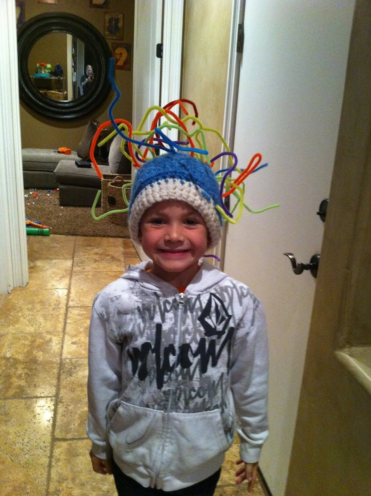 10 Fantastic Crazy Hat Ideas For Kids crazy hat day for kids crew and i had fun making his hat for crazy 2020