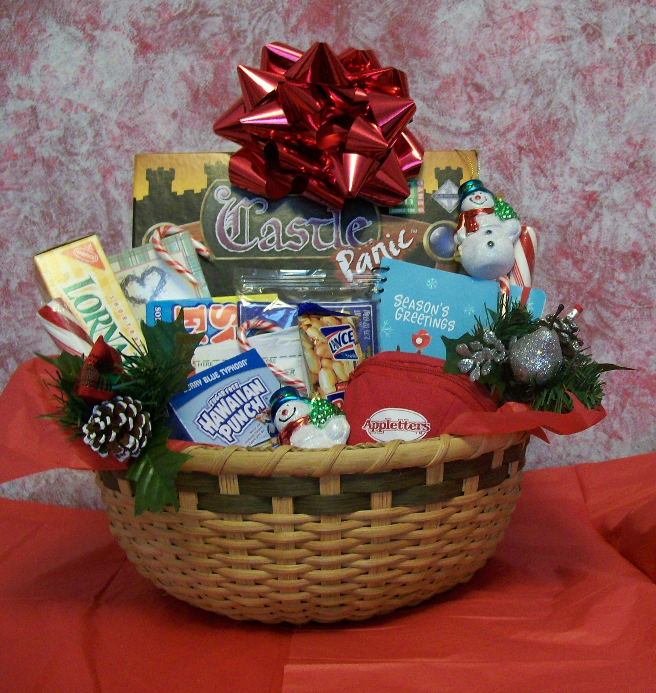 create a christmas fun and games gift basket for a family – all