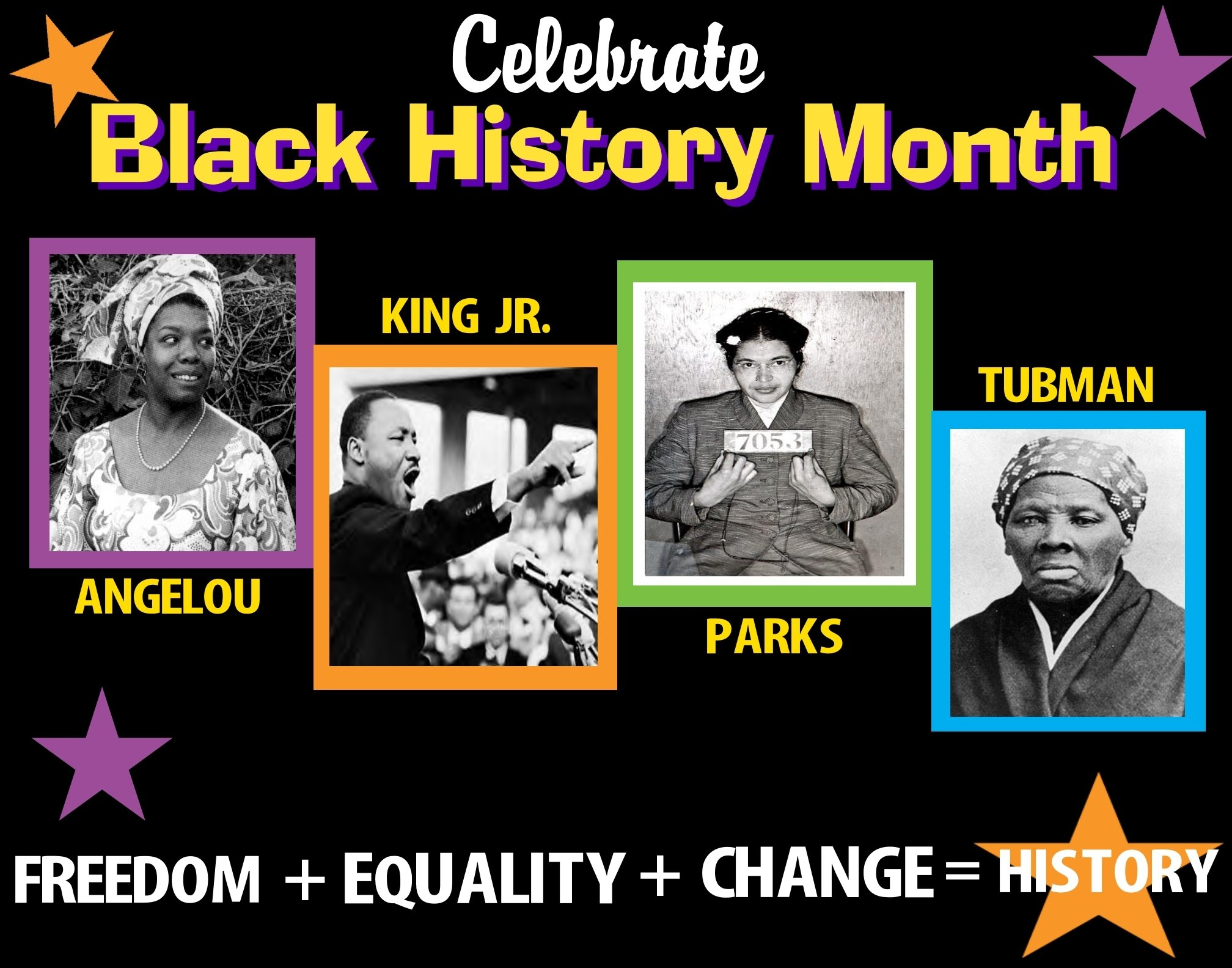 10 Fantastic Ideas For Black History Month create a poster about celebrate black history month february 2021