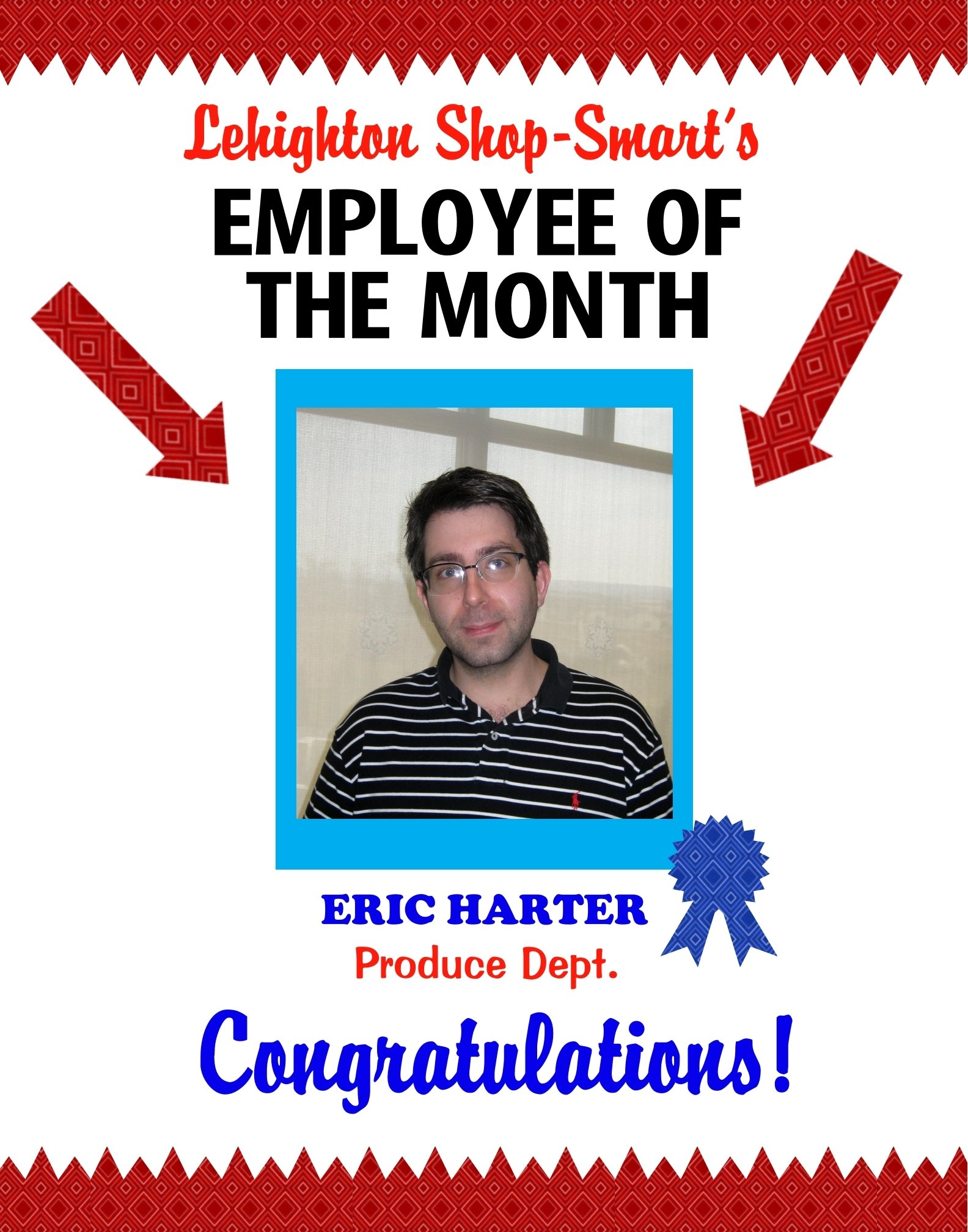 create a poster about employee of the month | staff recognition