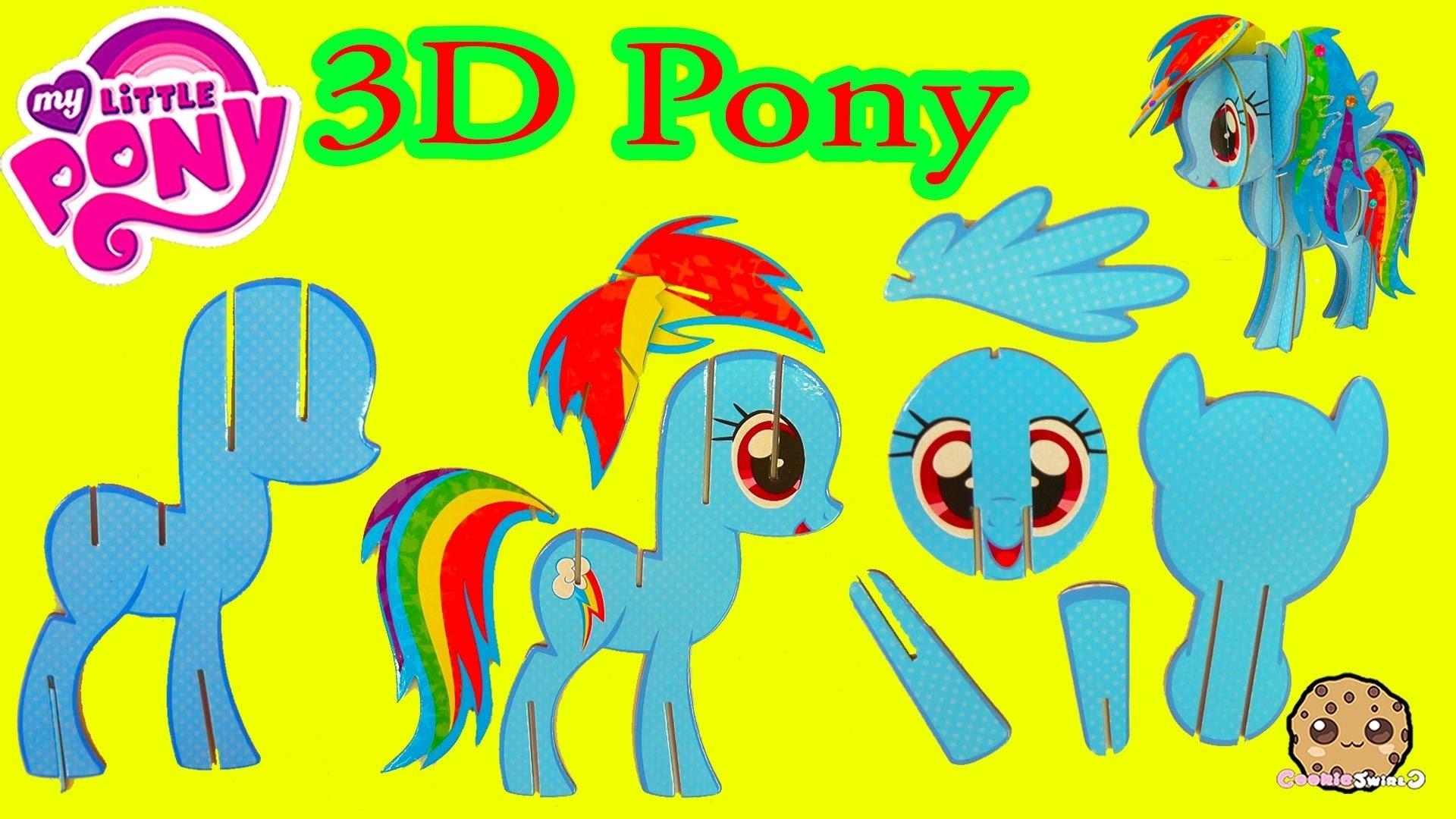 10 Stylish My Little Pony Craft Ideas create build a 3d my little pony rainbow dash mlp craft kit 2020