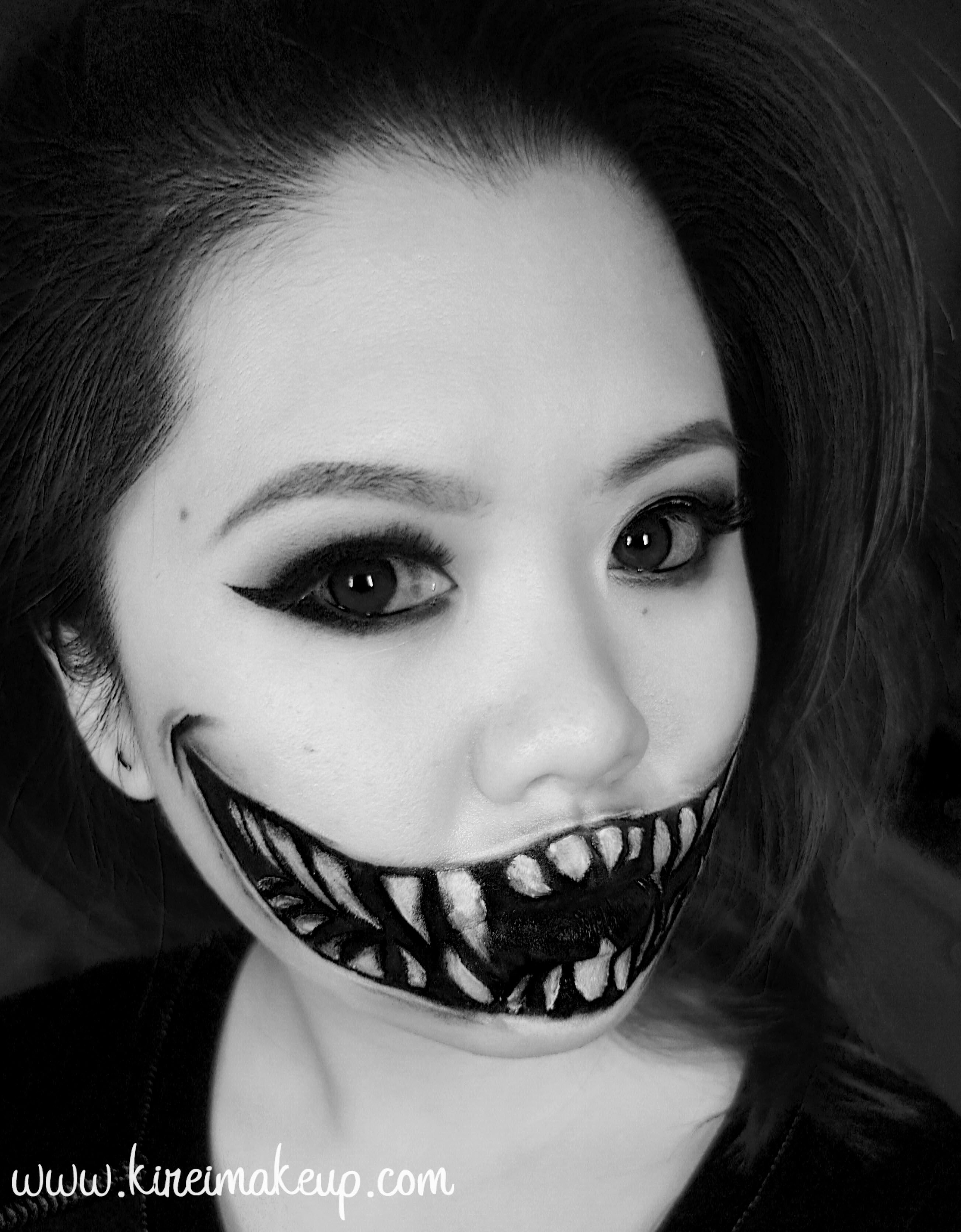 10 Unique Easy Halloween Face Painting Ideas create this easy halloween monster teeth makeup using just face 1 2020