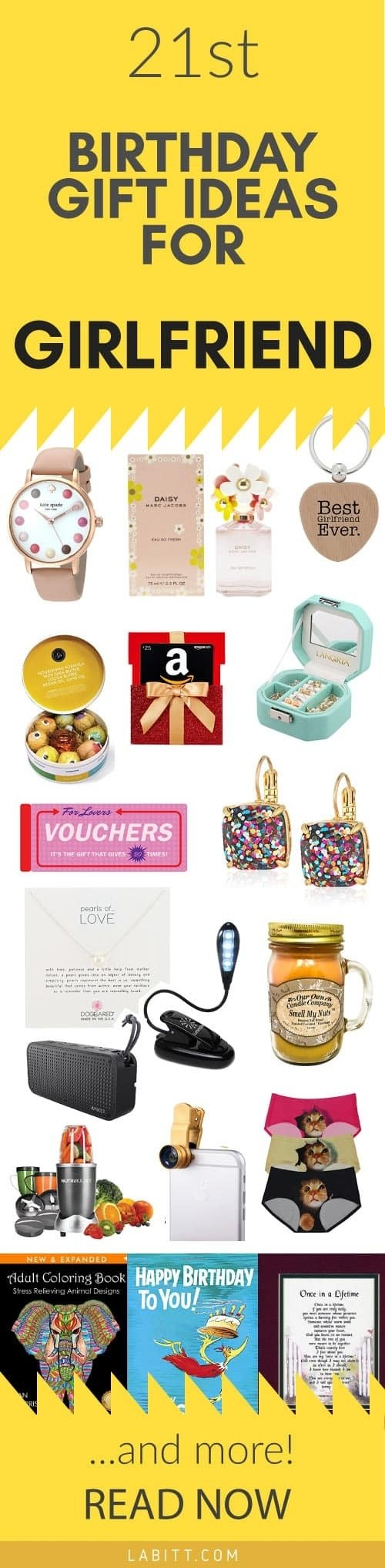 10 Stylish Gift Ideas For Girlfriends Birthday Creative 21st Girlfriend 21 Special