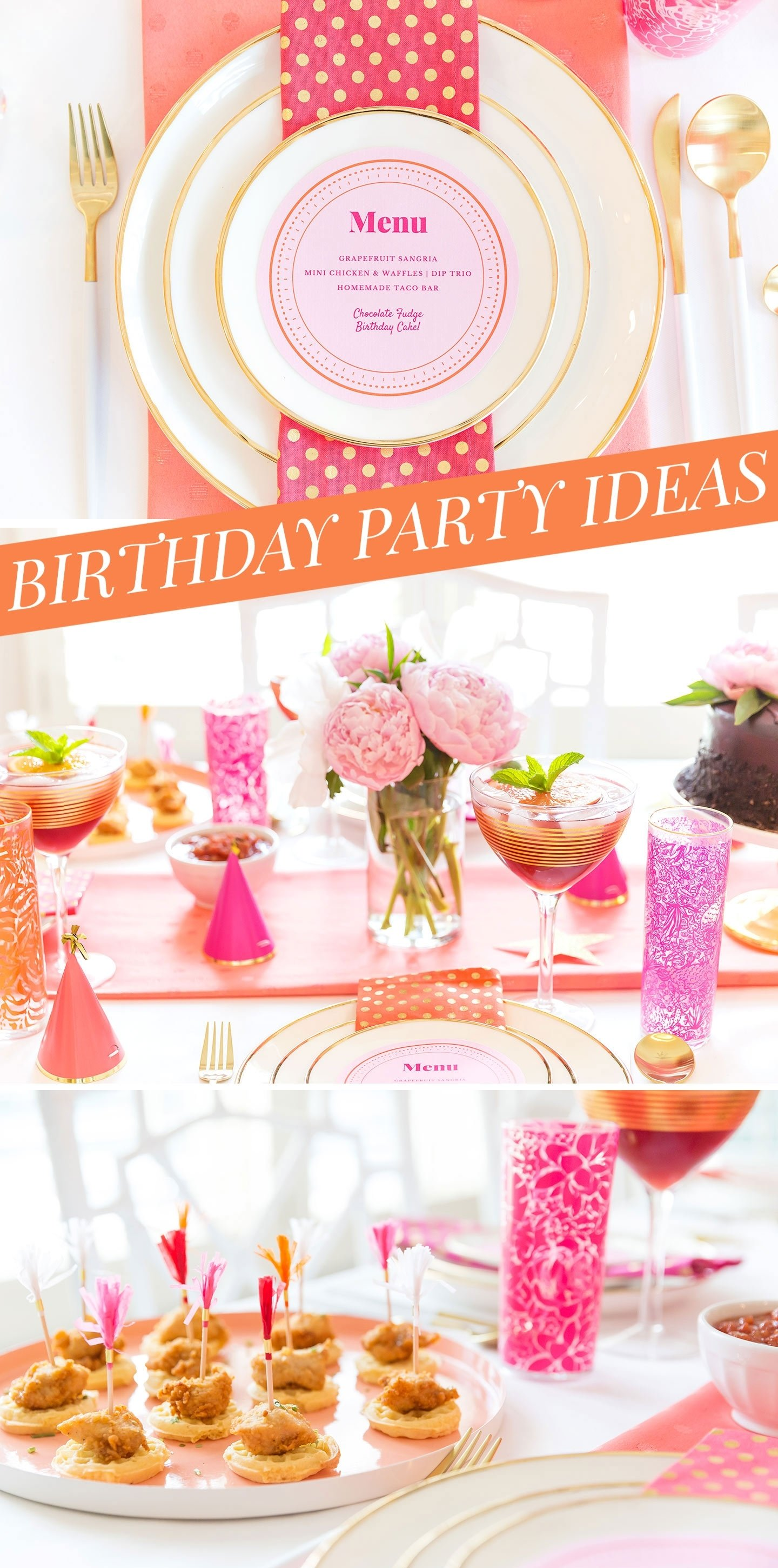 creative adult birthday party ideas for the girls | food & decor!