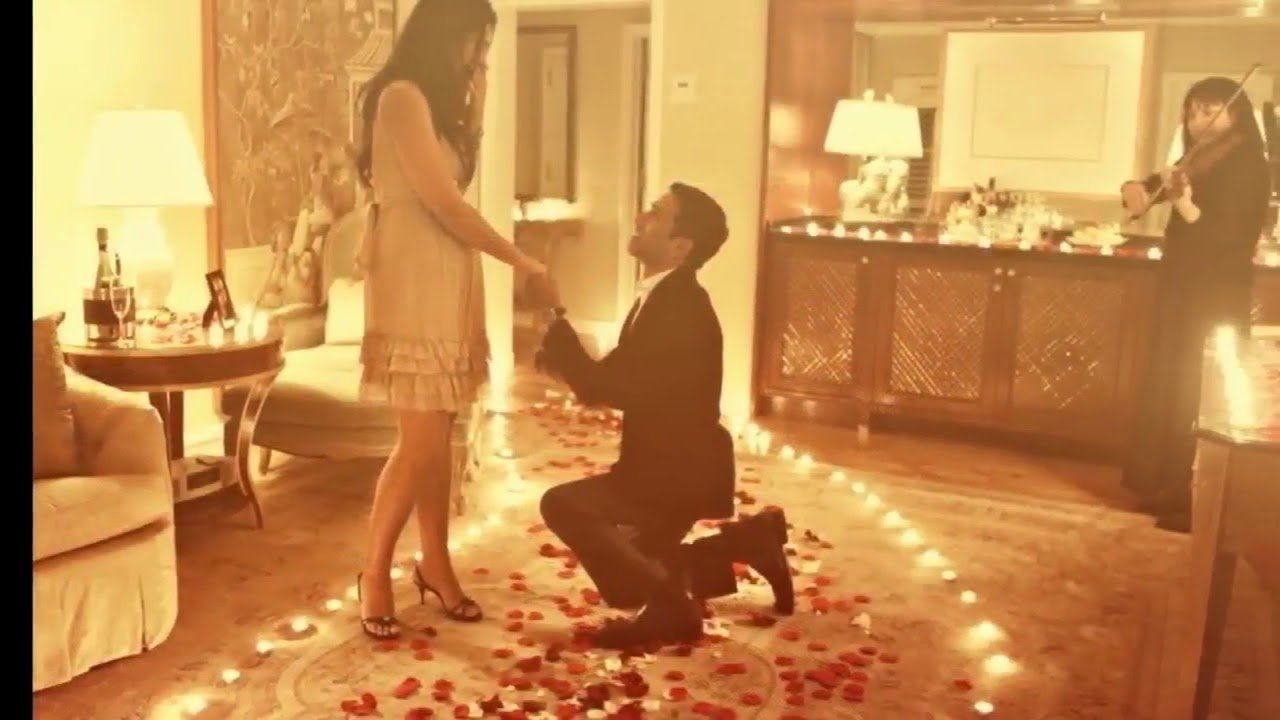 creative at home proposal ideas romantic and not forgotten - youtube