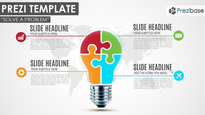 10 Beautiful Creative Ideas For A Presentation creative busness light bulb puzzle diagram prezi template 2020