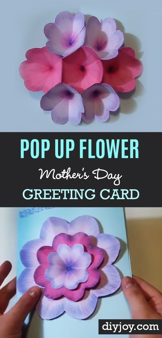 10 Fabulous Creative Homemade Mothers Day Gift Ideas creative diy mothers day card with pop up flowers homemade cards 2020