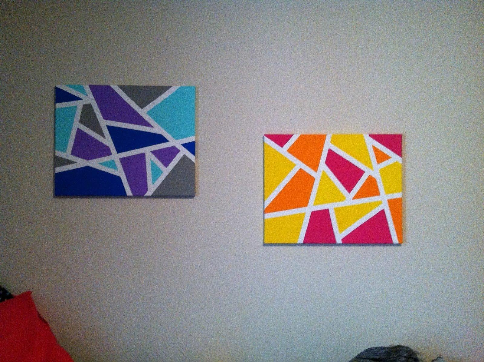 10 Stylish Easy Diy Canvas Painting Ideas creative easy diy canvas wall art ideas home art decor 74037 1 2020