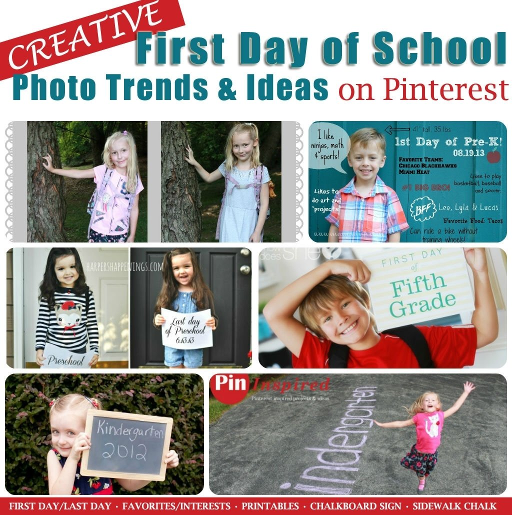10 Spectacular First Day Of Kindergarten Picture Ideas creative first day of school photo trends and ideas on pinterest 3