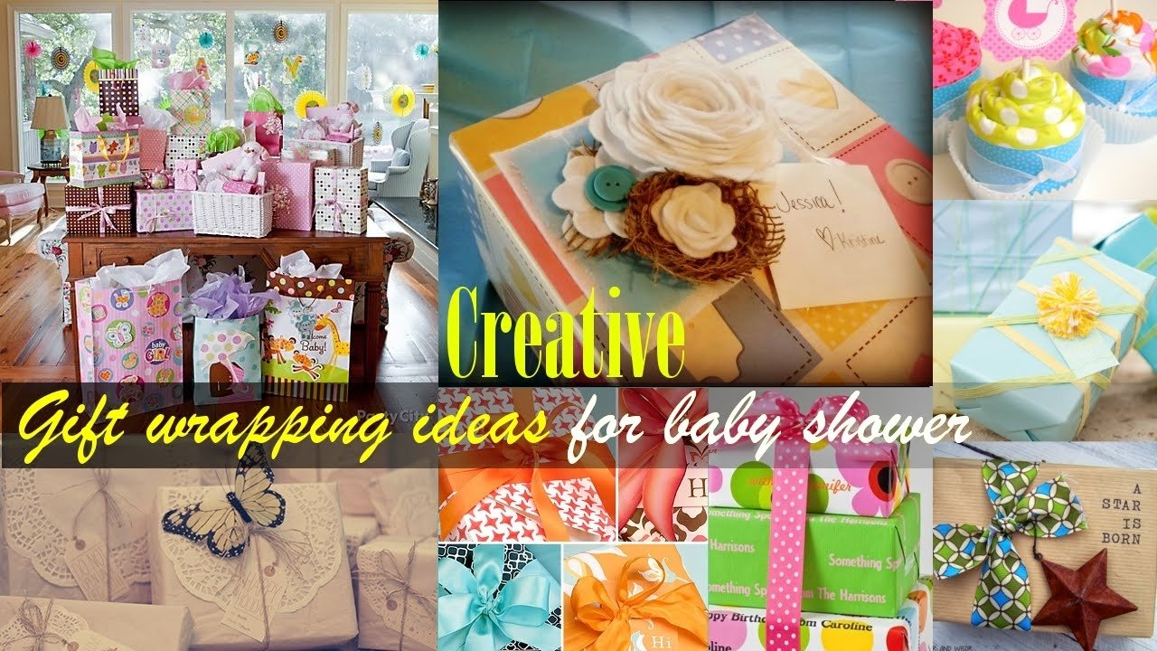 10 Gorgeous Gift Wrapping Ideas For Baby Shower creative gift wrapping ideas for baby shower youtube 2020