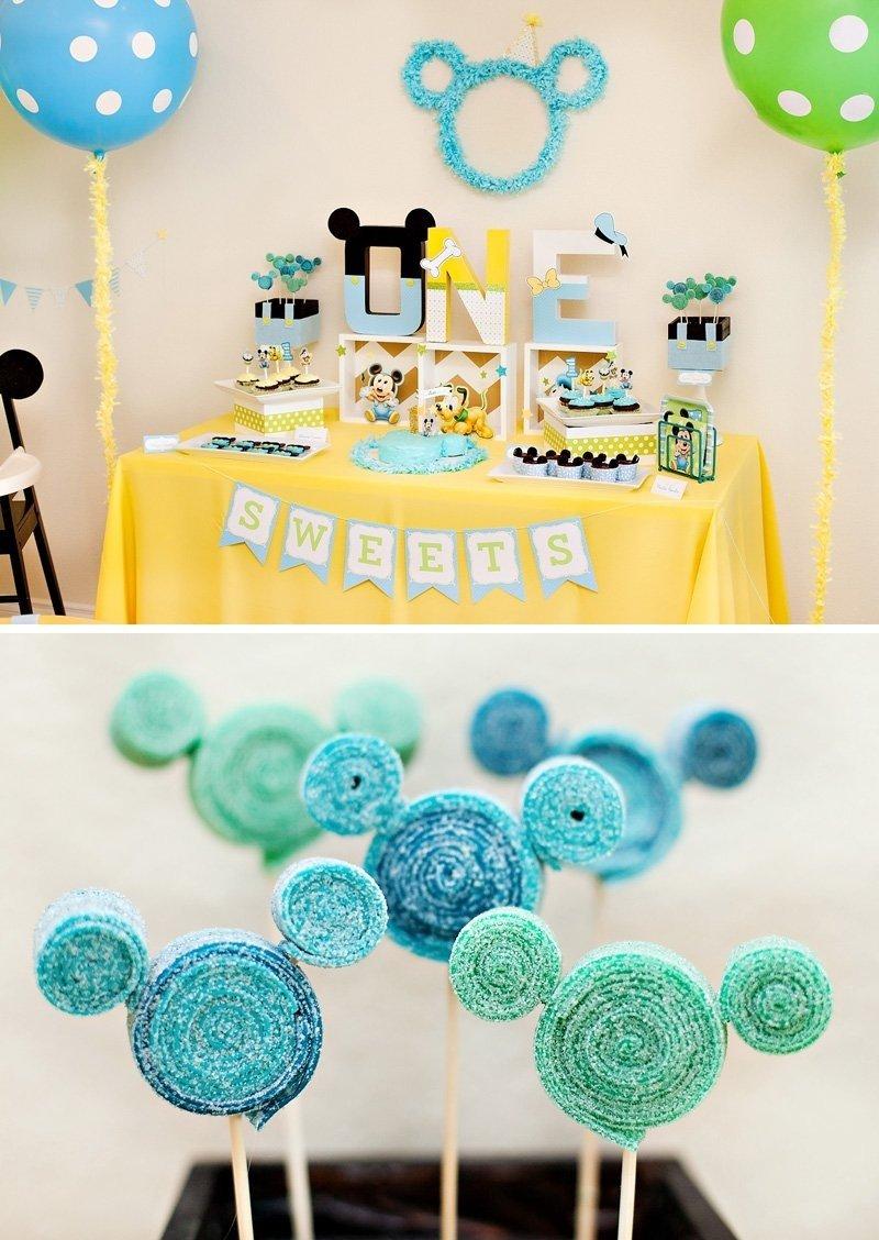 10 Gorgeous Mickey Mouse Birthday Party Ideas 1St Birthday creative mickey mouse 1st birthday party ideas free printables 4 2020