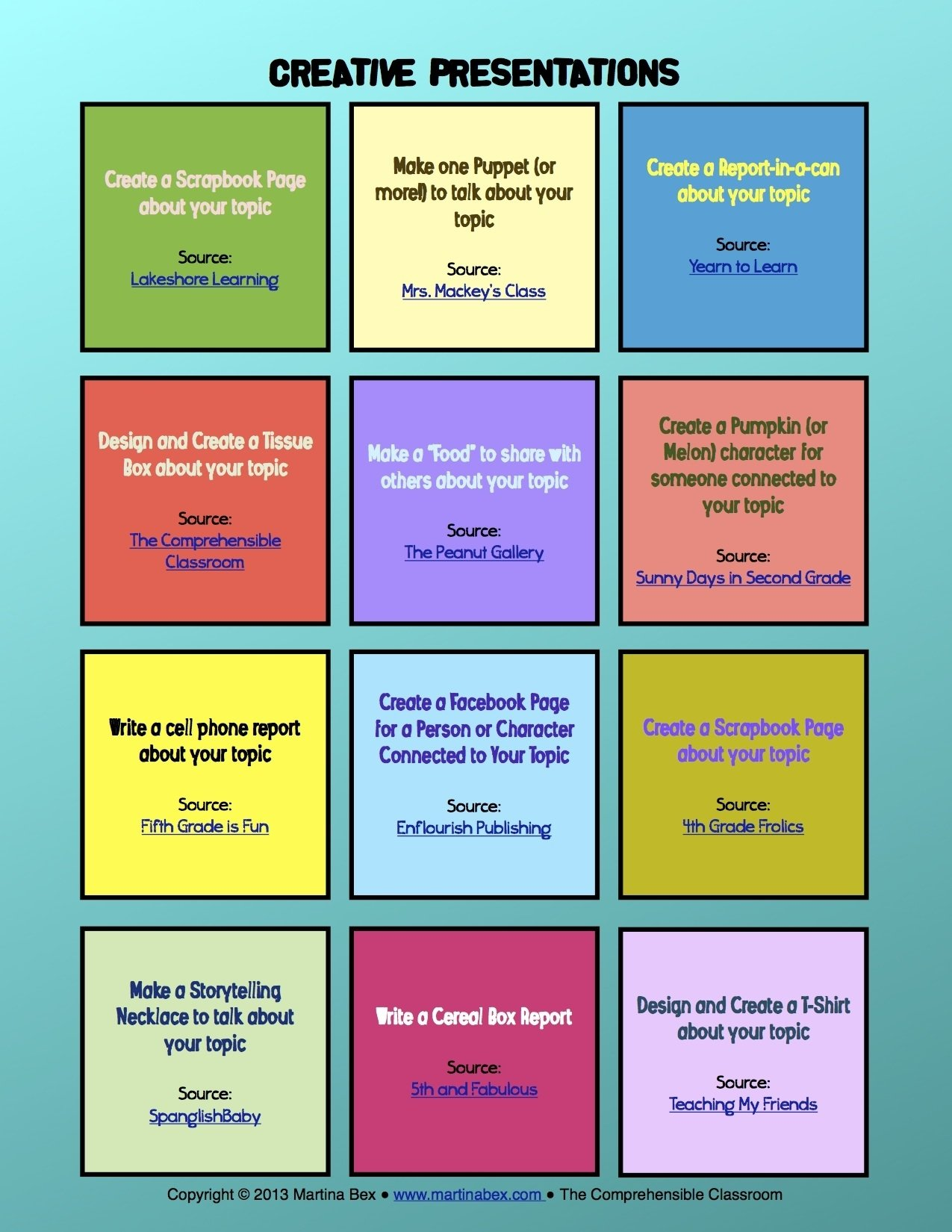 10 Stunning Creative Presentation Ideas For School creative presentation ideas the comprehensible classroom 1 2021