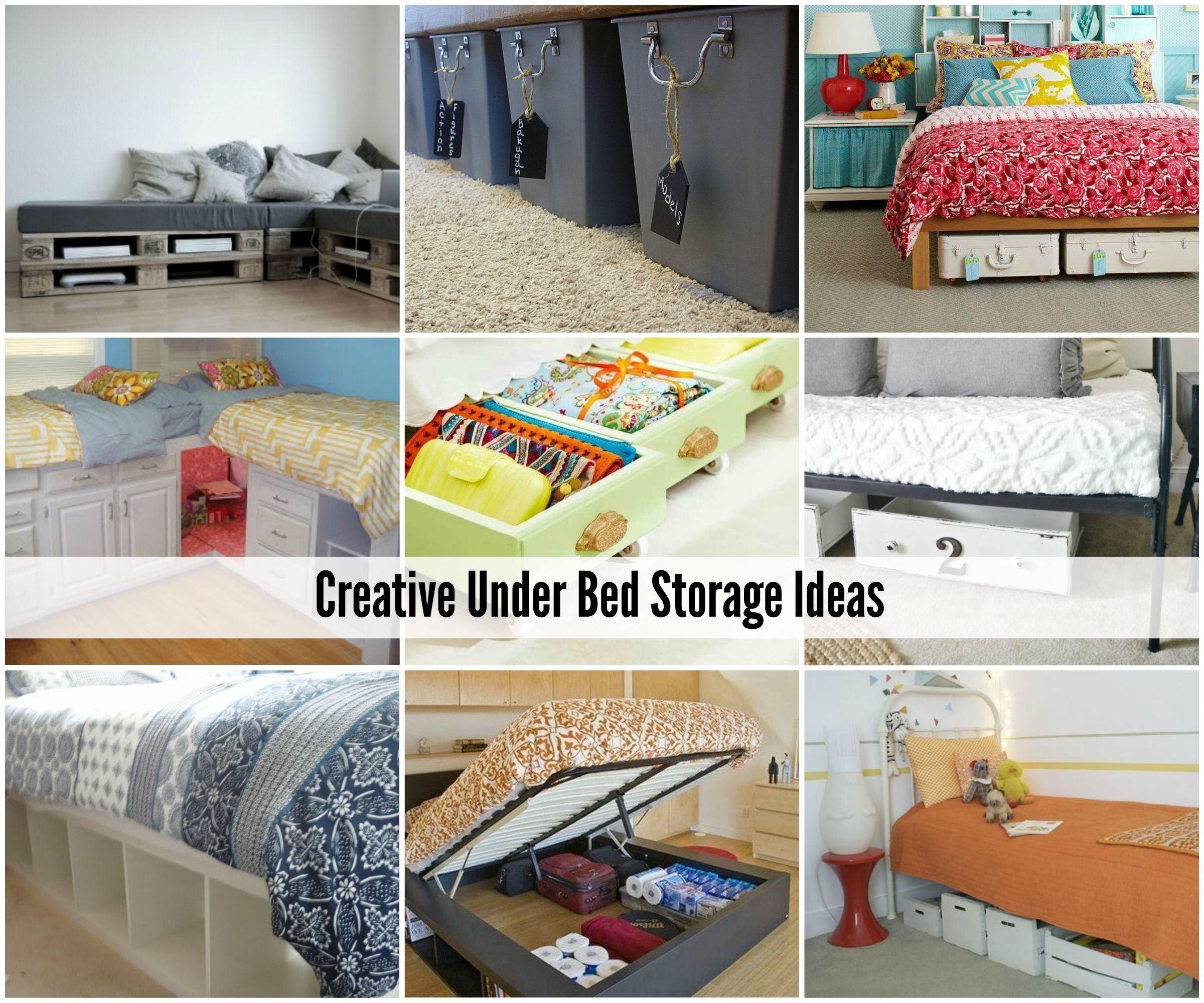 creative under bed storage ideas | bed storage, storage ideas and