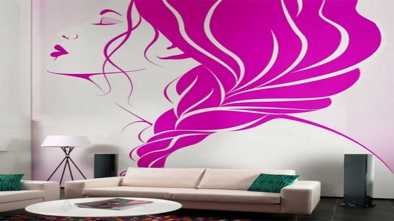 10 Wonderful Creative Painting Ideas For Walls creative wall painting ideas for living room youtube 2020