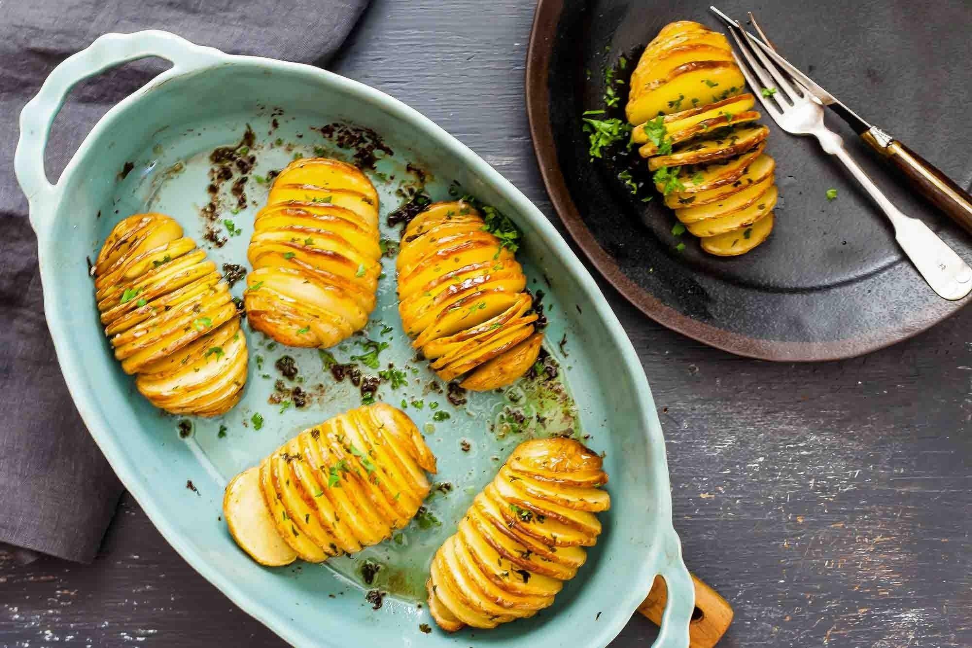 10 Spectacular Prime Rib Side Dishes Ideas crispy hasselback potatoes recipe simplyrecipes 2020