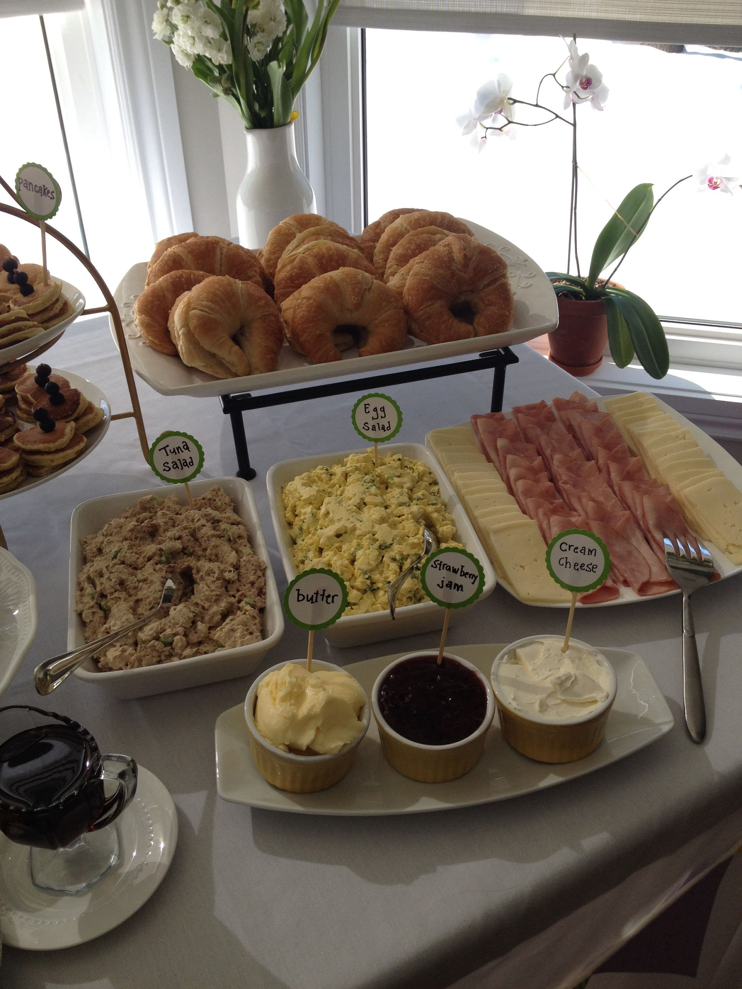 10 Stylish Baby Shower Food Menu Ideas croissant bar great baby shower brunch or lunch idea could do egg 2 2020