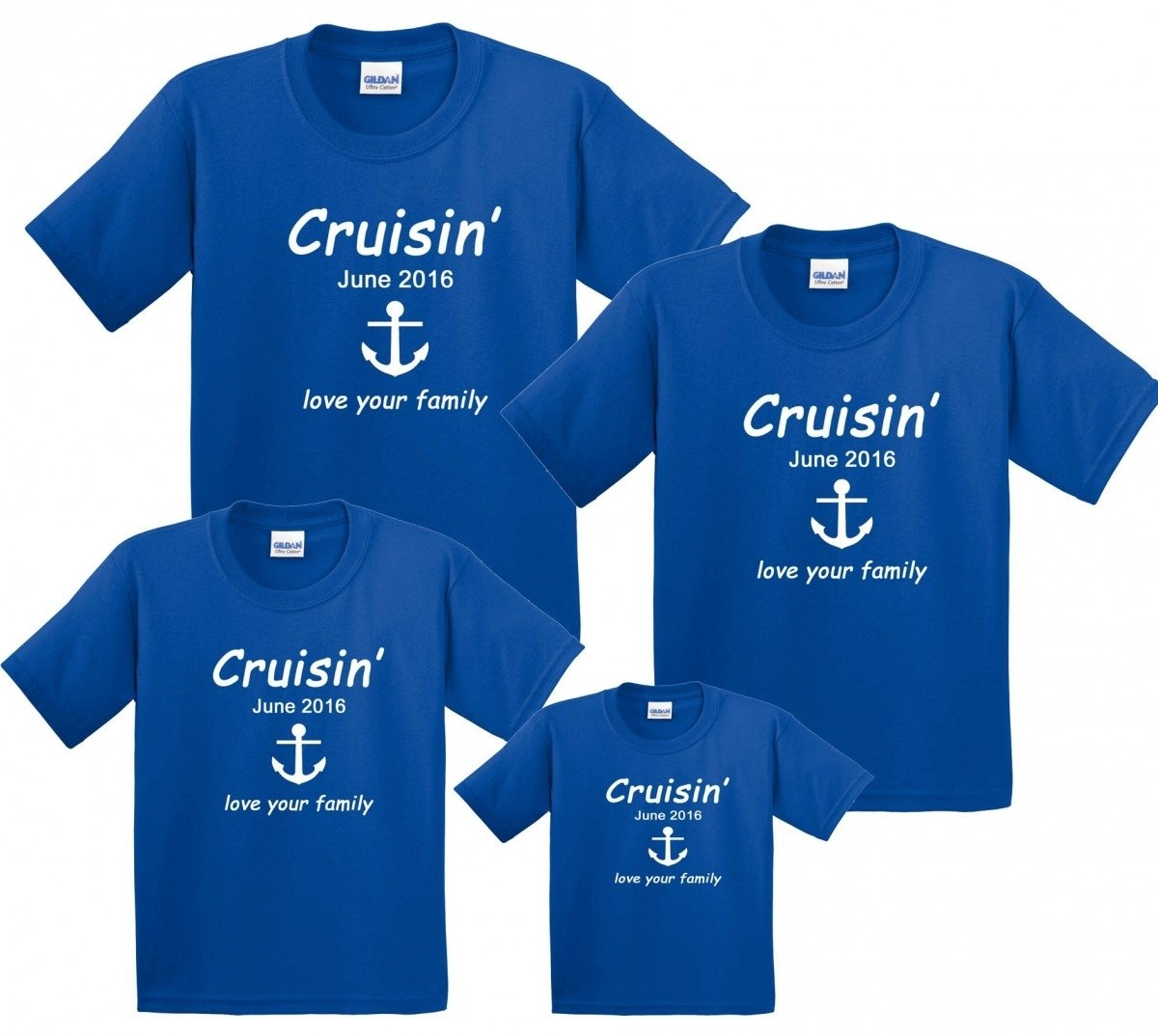 cruise vacation family matching t-shirts personalized