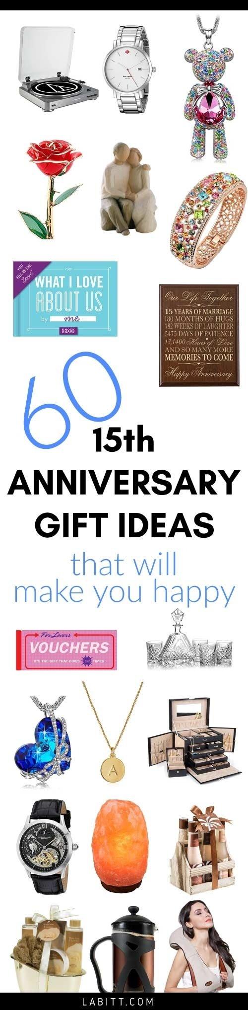 10 Cute 15Th Wedding Anniversary Gift Ideas crystal 15th wedding anniversary gift ideas for her