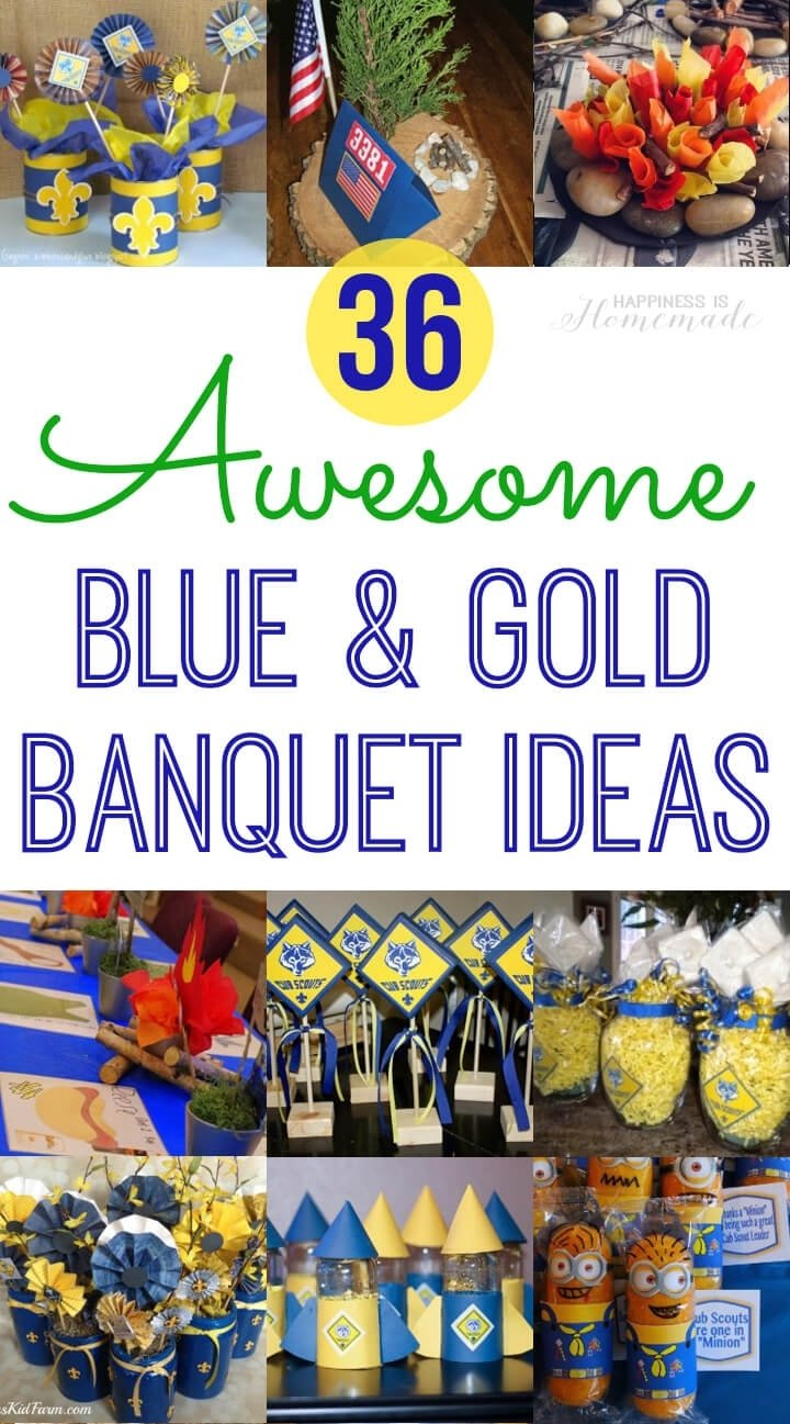 10 Fantastic Cub Scout Blue And Gold Ideas cub scout blue gold banquet ideas happiness is homemade 1