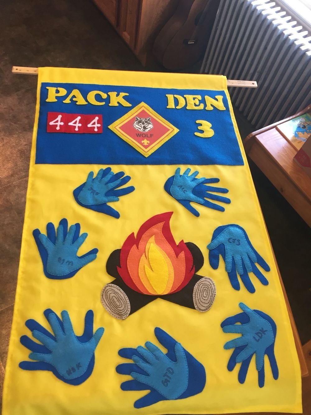 10 Pretty Cub Scout Den Flag Ideas cub scout wolf den flag parent hands under boy hand the boys 2021