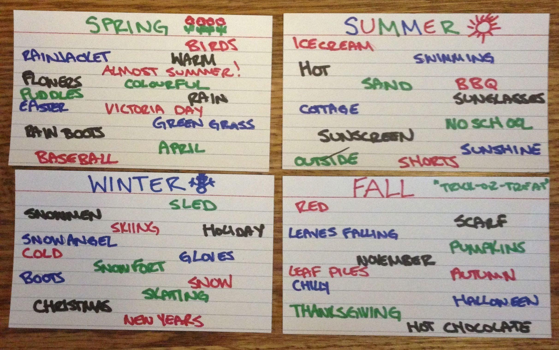 10 Nice After School Program Activity Ideas cue card categories after school program activity cue the fun with