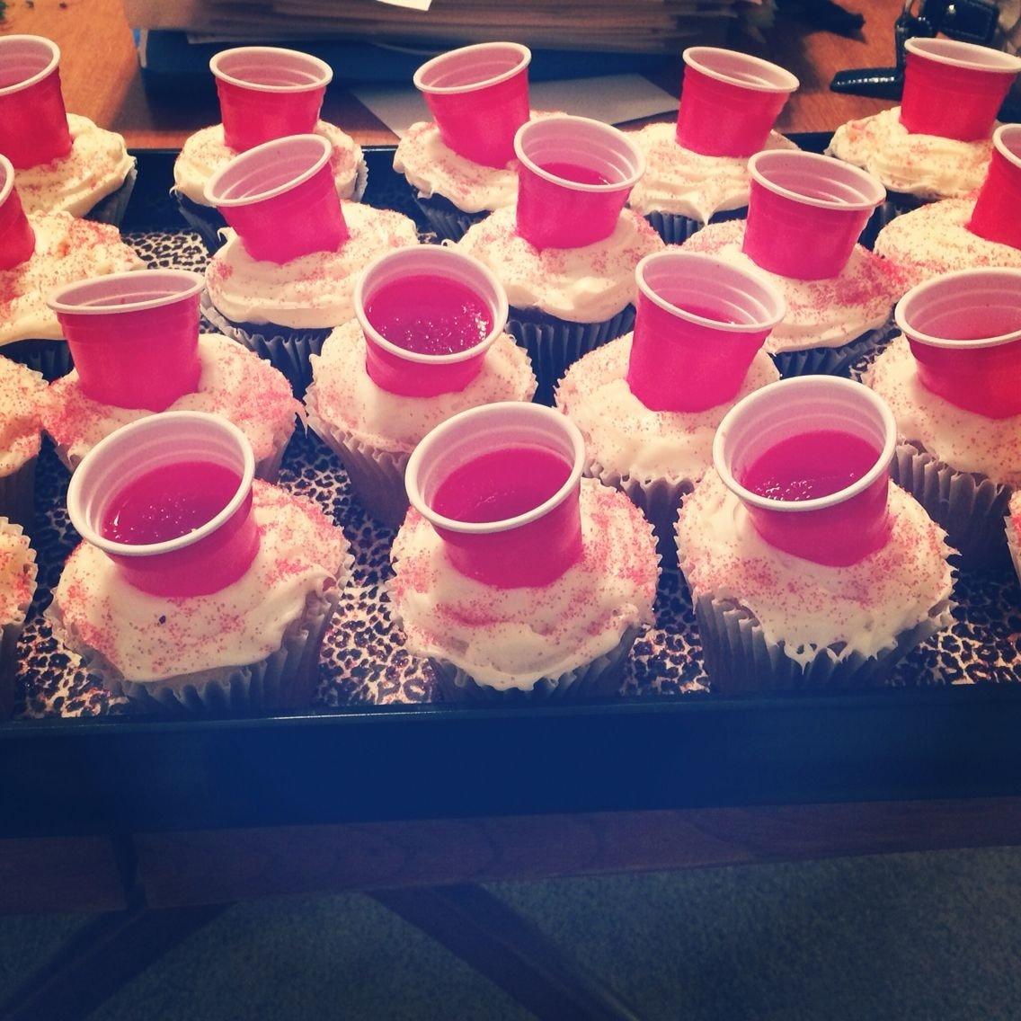 10 Amazing Party Ideas For 21St Birthday cupcakes i made for my sisters 21st birthday large cupcakes that i 2021