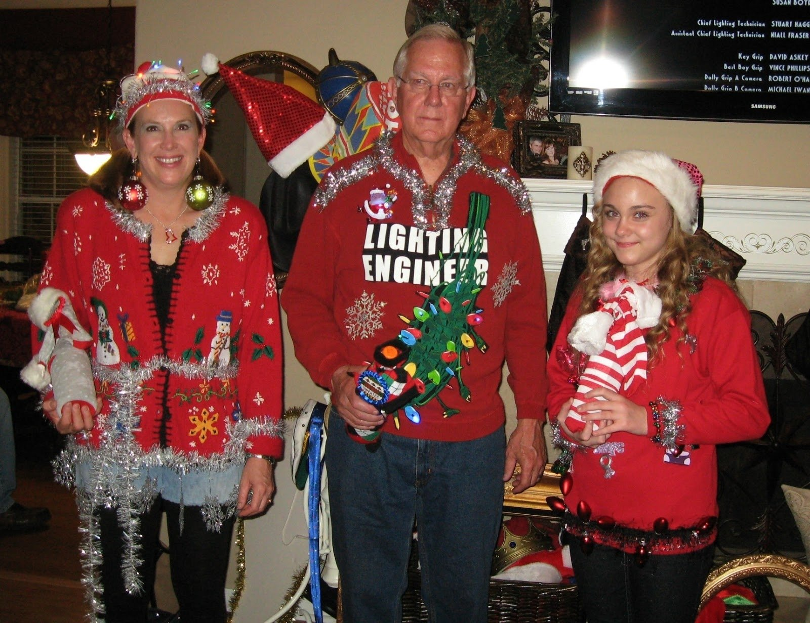 curb alert! : tacky sweater christmas party