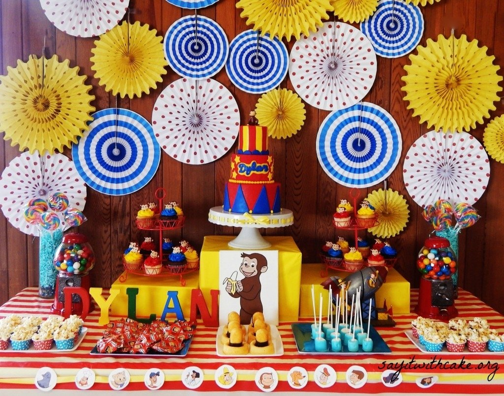 10 Fashionable Curious George Birthday Party Ideas curious george party say it with cake 2020