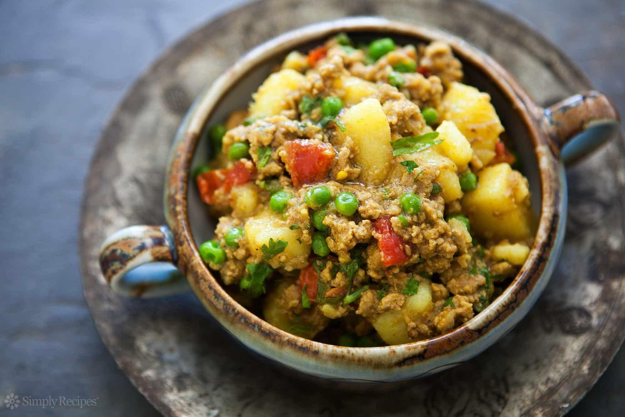 10 Pretty Dinner Ideas For Ground Turkey curried ground turkey with potatoes recipe simplyrecipes 1