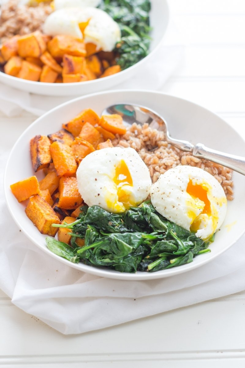 10 Elegant Healthy Breakfast Ideas With Eggs curried sweet potato breakfast bowls wholefully 2020